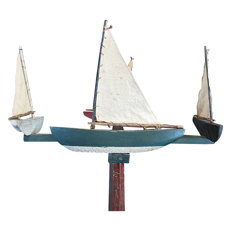 Vintage Sailboat Whirligig