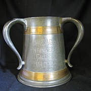 Antique Three Handle Trophy 1908 Chicago Engineer's Golf