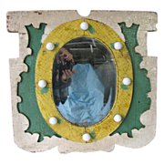 Vintage Carved and Painted Carousel Carnival Mirror Lighted