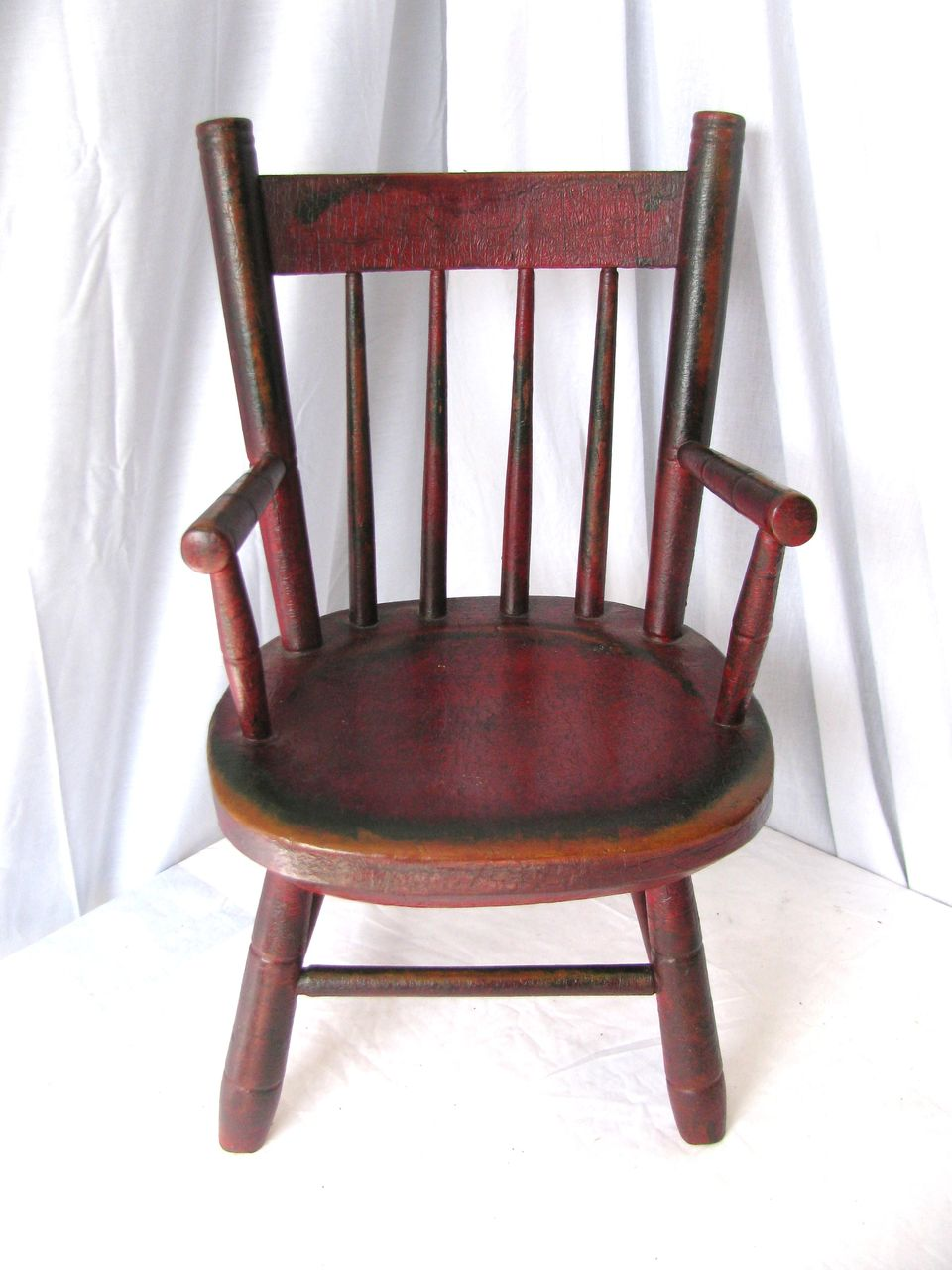 Antique Folk Painted Childu0027s Windsor Chair : Finish Line Collectibles |  Ruby Lane