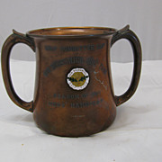 Antique Copper Golf Trophy Cup New Brunswick Golf Club 1907