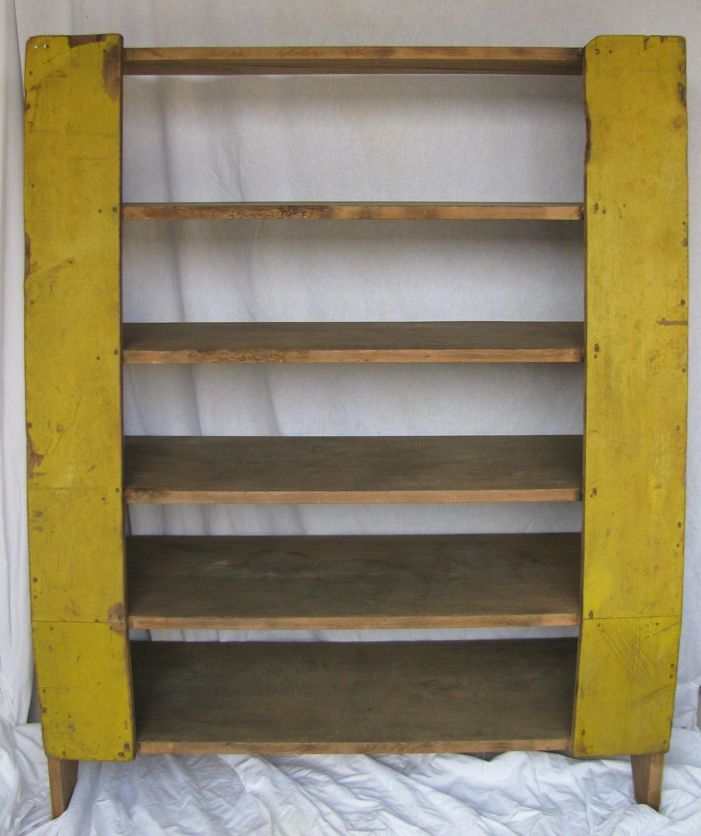 Antique Chrome Yellow Painted Cornish Maine Camp Back Cupboard From North2southantiques On Ruby Lane