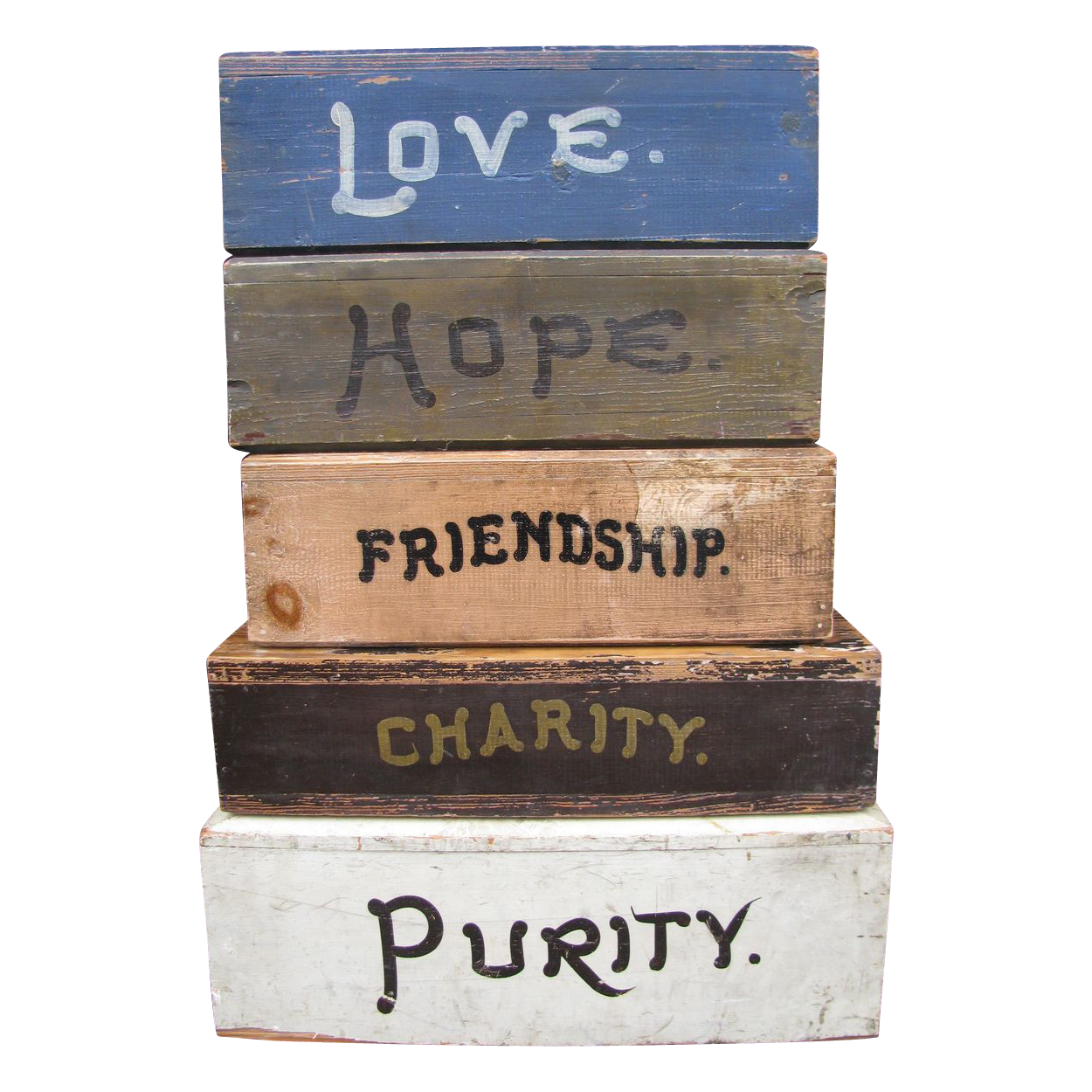Antique Fraternal Painted Wooden Inspirational Platforms Fantastic From North2southantiques On