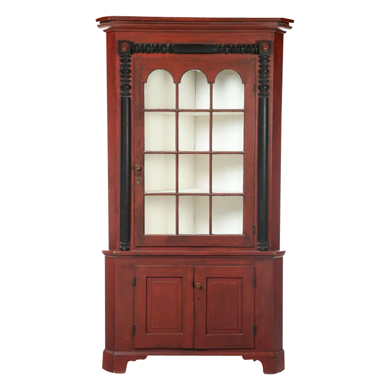 - Antique Painted Corner Cupboard : Finish Line Collectibles Ruby Lane