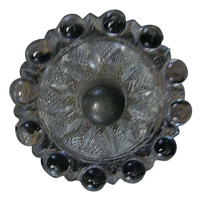 Antique Set of Glass Drawer Pulls