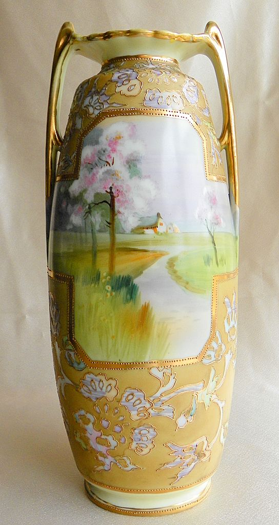 Hand Painted Nippon Vase Value Vase And Cellar Image Avorcor