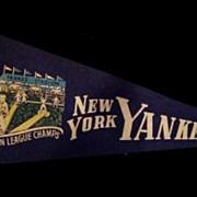 New York Yankees 1940's Championship Pennant