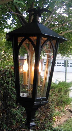 Cast Iron Post Light Vintage Monumental