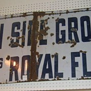 "Trade Sign Porcelain on Steel ""South Side Grocery"""