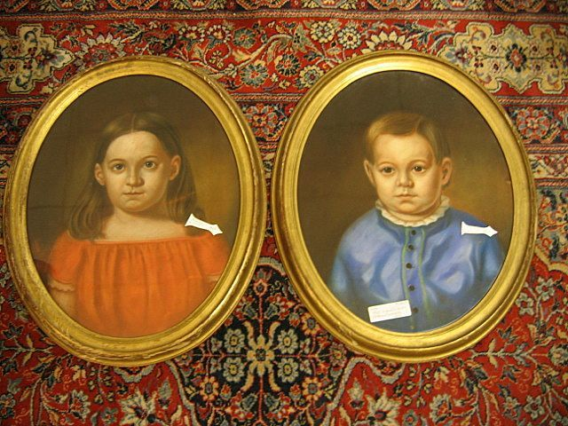 Two Antique Pastel Portraits Signed Circa 1853 (Brother & Sister)
