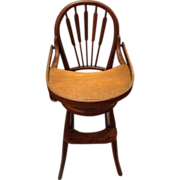Early Thonet style child's bentwood  oak high chair