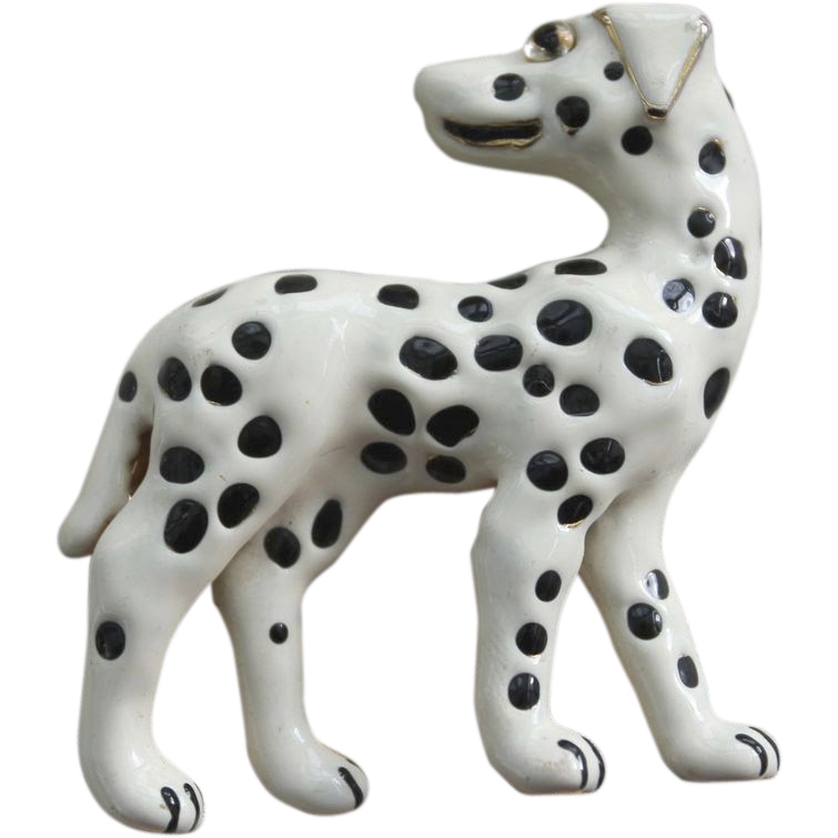 Mimi di N Pin-Dalmatian Dog-Artistic Enamel Finish-Miniature Sculpture