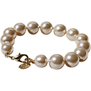 Erwin Pearl Bracelet-Knotted 9 MM Faux Pearls-Luxurious & Fun