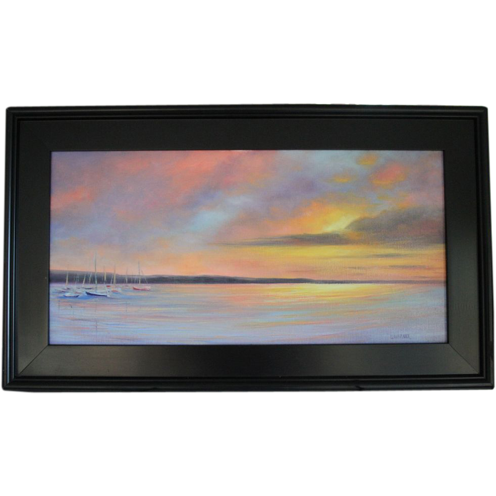 Sailor's Delight-Framed 12 X 24 Oil Painting by Artist L. Warner ...