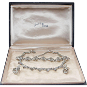 TRIFARI-Jewels by Trifari Parure & Box-Sparkling Diamentes-Vintage Mint!
