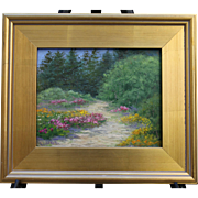 Summer Stroll-Framed 8 X 10 Oil Painting-Artist L. Warner-Opportunity Buy!