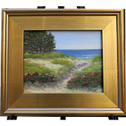 Outer Cape Dune-Framed 8 X 10 Oil Painting-Artist L. Warner