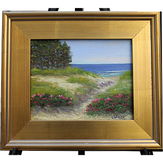 Outer Cape Dune-Framed 8 X 10 Oil Painting-Artist L. Warner