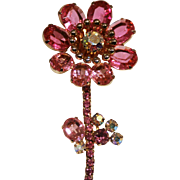 Pink Flower Pin-Four Inches Tall-Passionate Forever Corsage