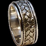 Spinner Ring-Celtic Braid Design-7.5/8 Size-Unisex Band