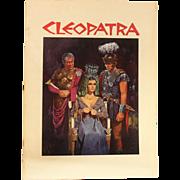 Cleopatra Movie Souvenir Book-Elizabeth Taylor 1963 Film-Color Photographs & Film Notes