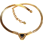 """Dior Necklace-""""The Real Look"""" Era of Costume Jewelry-Signed Chr. Dior"""