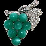 Coro Pin-Cluster of Green Grapes-Mid-20th Century Design