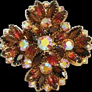 Juliana Brooch-DeLizza & Elster Brooch-Carved Stones-Celebrates Autumn's Splendor