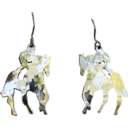 Equestrian Pierced Earrings-Left & Right Riders-Large & Luminous!