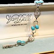 VanDell Bracelet-Original Box-Southwest Style Sterling Links-Mint Condition
