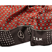 Mercedes-Benz- Silk Scarf-40 Inches Square-SLK Model