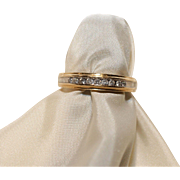 Diamond Ring-10K Gold Band-Size 6/6.5-Nine Diamonds for Your Valentine