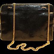 Coblentz Original Vintage Handbag-Black Genuine Leather-Date Night Perfection