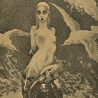 Vintage Book Plate 'The Little Mermaid' by Norman Lindsay.