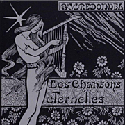 Original French Lithographic Frontispiece  'Les Chansons Eternelle'  1894 by Paul Berthon. Limited Edition.