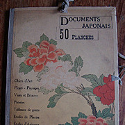 Japanese Original Compendium of 50 Signed Color Engravings 'Documents Japonaise'  c1900. Rare Art Nouveau era Very Rare
