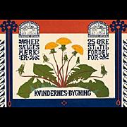 Original German Art Nouveau Stone Lithograph 'Kvindernes Bygning' from Das Moderne Plakat 1897.