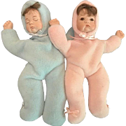 Divine Pair of Miniature Infant Dolls.