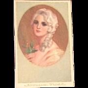 SALE: Art Deco Italian Corbella Christmas New Years Greetings Postcard c1930