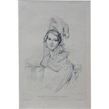 Antique French Burin Engraving after Ingres Gazette des Beaux Arts 1905