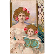 SALE: Hand Gilded English Art Nouveau Chromographed Postcard 1907