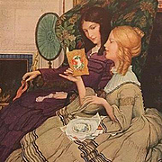 Valentine Ladies By a Fire American Artist Postcard c1912
