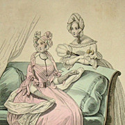 Victorian Fashion Magazine Engraving 'Le Follett'