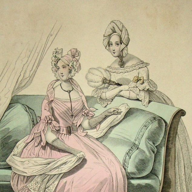 SALE: Victorian Fashion Magazine Engraving 'Le Follett'