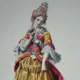 French Hand Finished Signed Fashion Engraving c1840