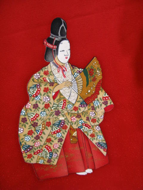 Theatre Noh Performer Gilded and Hand Painted Silk Homongi Kimono.