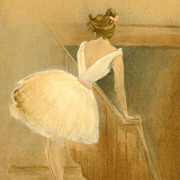 Original French 'Ballet Dancer' L'Estampe Moderne Lithograph 1897. Signed Boutet Art Nouveau era Rare.