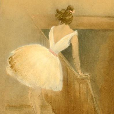 Rare French 'Ballet Dancer' L'Estampe Moderne Lithograph 1897.
