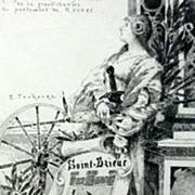Original Signed French Etching Joan of Arc  'Saint-Brieuc' c1890
