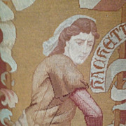 19th Century French Needlepoint and Petitpoint Tapestry 'Jeanne Hachette' c1850
